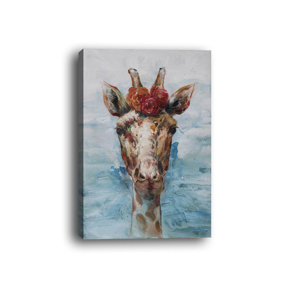 Cheap Framed Canvas Modern Living Room Bedroom Giraffe Decorative Print