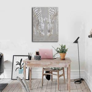 Encadré Toile Chambre Living Background Dessin décoratif Abstrait Zebra Print -