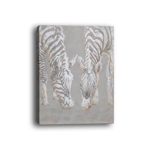 Outfits Framed Canvas Bedroom Living Background Decorative Drawing Abstract Zebra Print