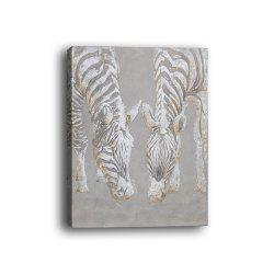 Framed Canvas Bedroom Living Background Decorative Drawing Abstract Zebra Print -