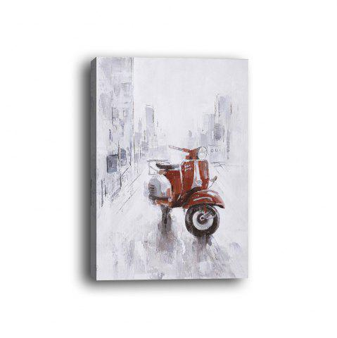 Outfits Framed Canvas Background Wall Still Life Decorative Painting Motorcycle Print