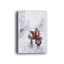 Framed Canvas Background Wall Still Life Decorative Painting Motorcycle Print -