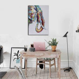 Framed Canvas Modern Bedroom Background Wall Abstract Elephant Nose Print -