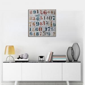 Framed Canvas Modern Living Room Background Wall Abstract Digital Print -