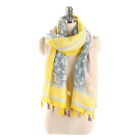 Hot Simple Three Color Spliced Cashew Scarf