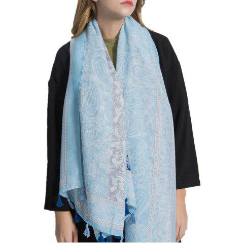 Best Simple Three Color Spliced Cashew Scarf