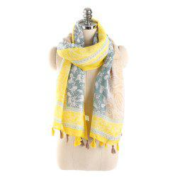 Simple Three Color Spliced Cashew Scarf -