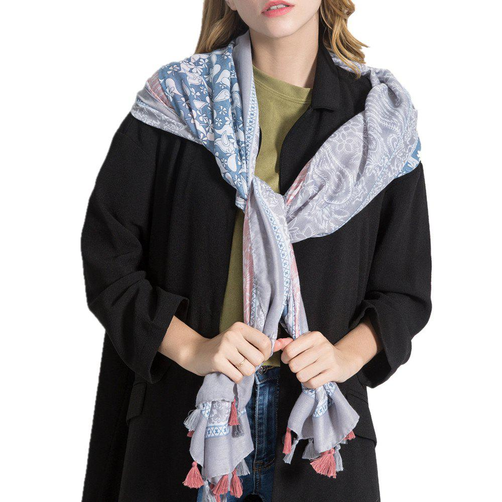 Shops Simple Three Color Spliced Cashew Scarf