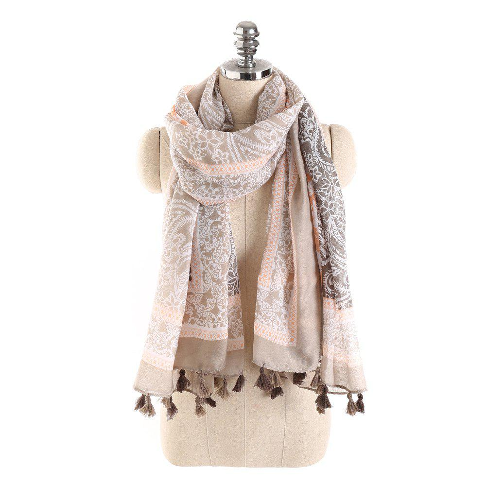 Cheap Simple Three Color Spliced Cashew Scarf