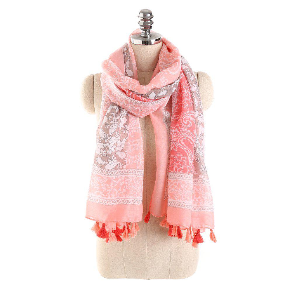 Outfit Simple Three Color Spliced Cashew Scarf