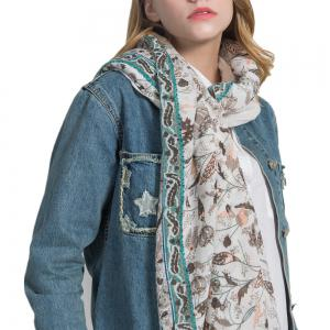 Hot Sale of New Simple Wind Tending Cotton and Hemp Warm Scarf -