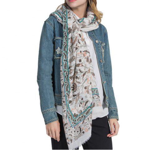 Chic Hot Sale of New Simple Wind Tending Cotton and Hemp Warm Scarf