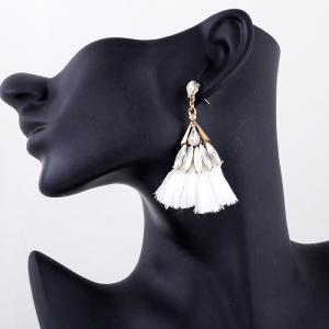 Explosion Fashion Trend Bohemian Zircon Fan Fringe Earrings -
