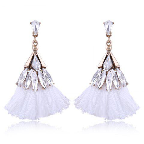 Hot Explosion Fashion Trend Bohemian Zircon Fan Fringe Earrings