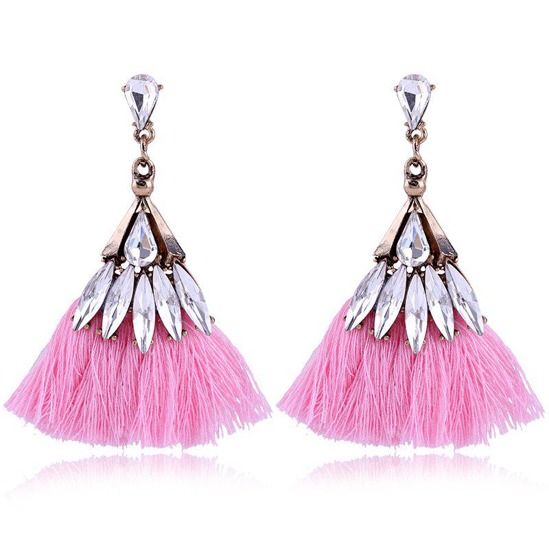 Best Explosion Fashion Trend Bohemian Zircon Fan Fringe Earrings