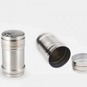 Stainless Steel Barbecue Sauce Spice Jar Seasoning Box Condiment Bottles -