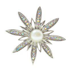 Crystal Sunflower Brooches for Women Exquisite Pins Coat Corsage -