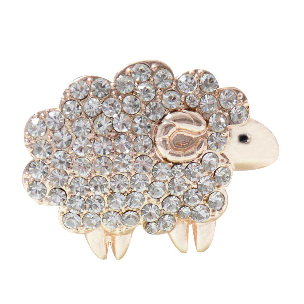 Outfit Three Colors Sheep Brooches  Rhinestone Animal Pins for Woman Gift