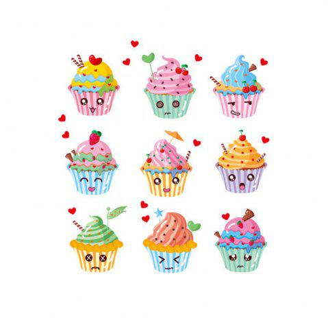 Outfit Creative Decorative Cartoon 3D Cake Wall Stickers