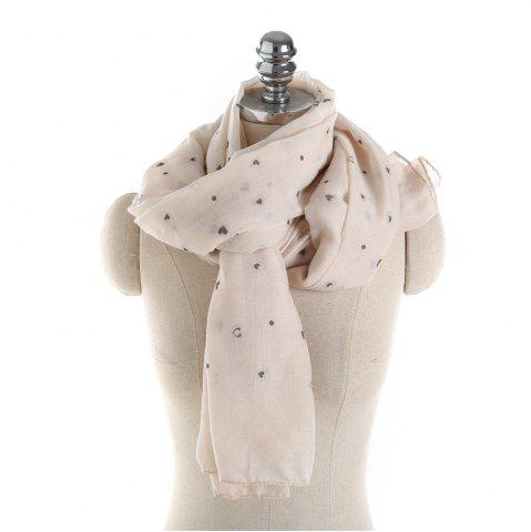 Latest Long and Comfortable Scarf in Small Cotton and Linen Printing