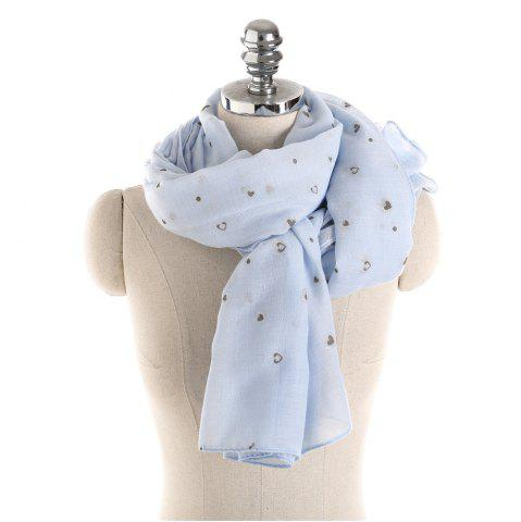 Chic Long and Comfortable Scarf in Small Cotton and Linen Printing