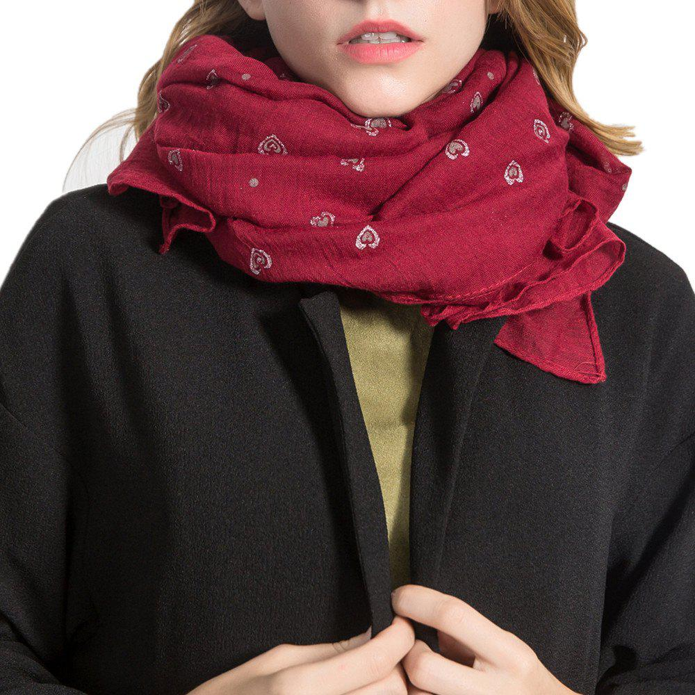 Fancy Long and Comfortable Scarf in Small Cotton and Linen Printing