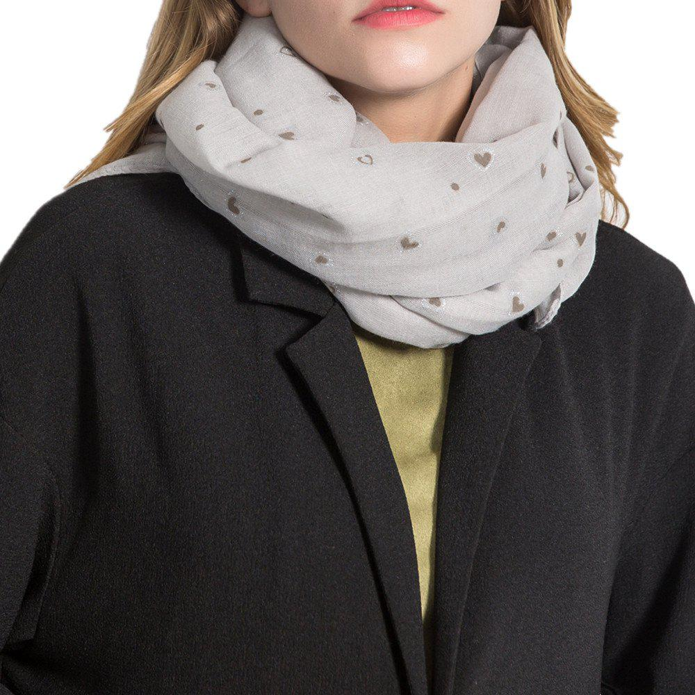 Sale Long and Comfortable Scarf in Small Cotton and Linen Printing