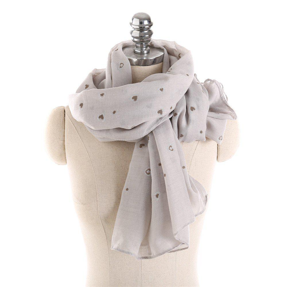 Trendy Long and Comfortable Scarf in Small Cotton and Linen Printing