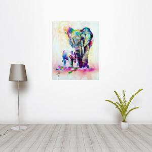 W361 Art Elephant Unframed Wall Canvas Prints for Home Decorations -