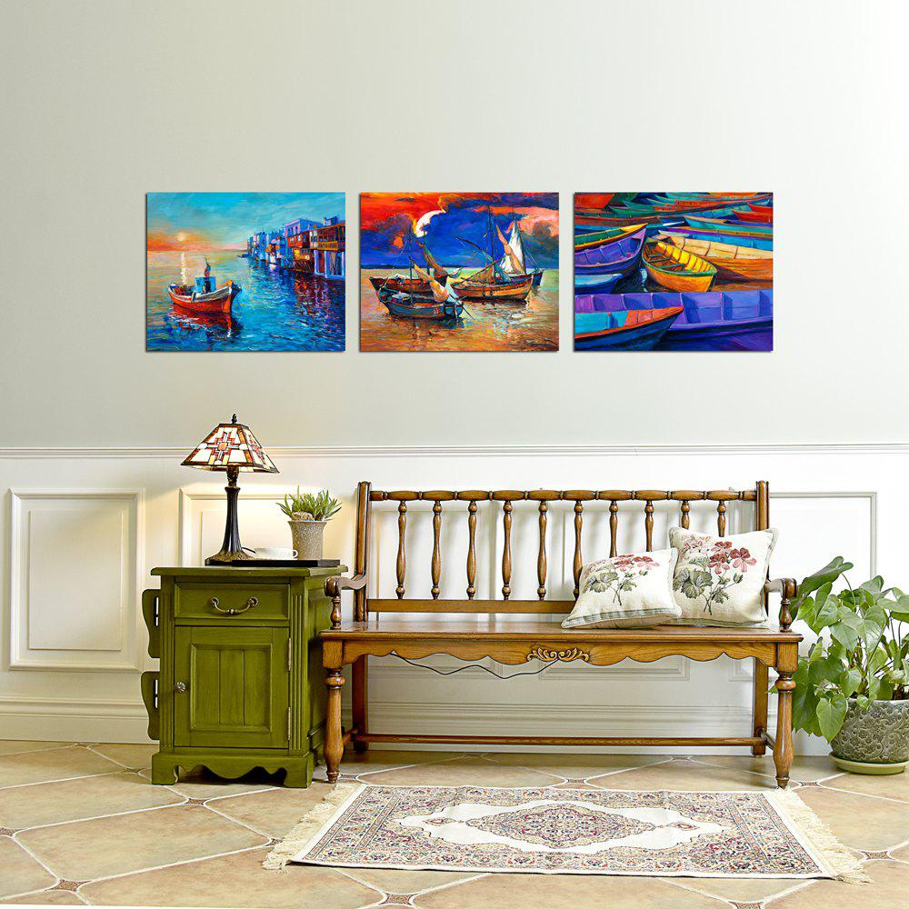 Fashion W364 Boats Unframed Art Wall Canvas Prints for Home Decoration 3PCS