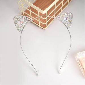 High Quality Lovely Alloy Diamond Cat Ears Headband -