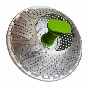 New Stainless Steel Steaming Basket Folding Mesh Food Vegetable Egg Dish -
