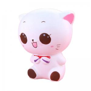 Jumbo Squishy White Cat Decompression Toys -