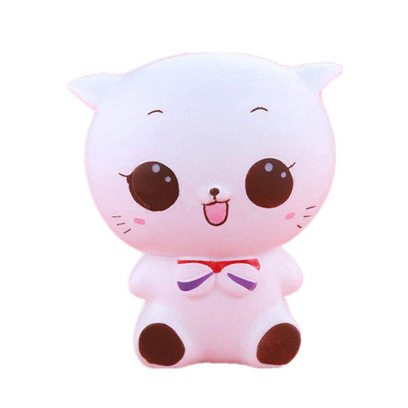 Shop Jumbo Squishy White Cat Decompression Toys