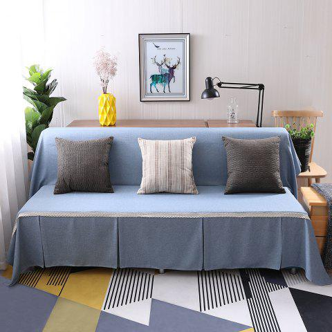 Trendy Pure Color Dust-Proof Cover for Armless Sofa