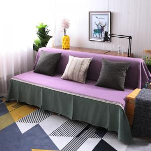 Fashionable Solid Color and Splicing Sofa Dustproof Cover -
