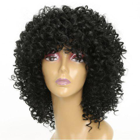 Best Women Golden Blonde Afro Curly Style Short Hair Synthetic Wig for Party