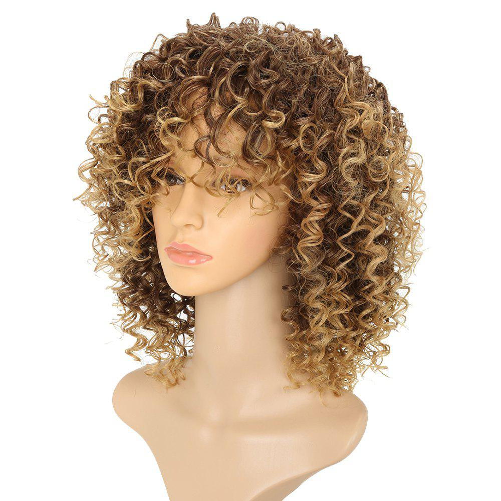 Perruque Synthétique Cheveux courts Afro Curly Style pour Femmes 5 Couleurs