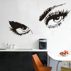 Big Eyes  Decal Long Eyelashes Design Wall Decor Sticker -