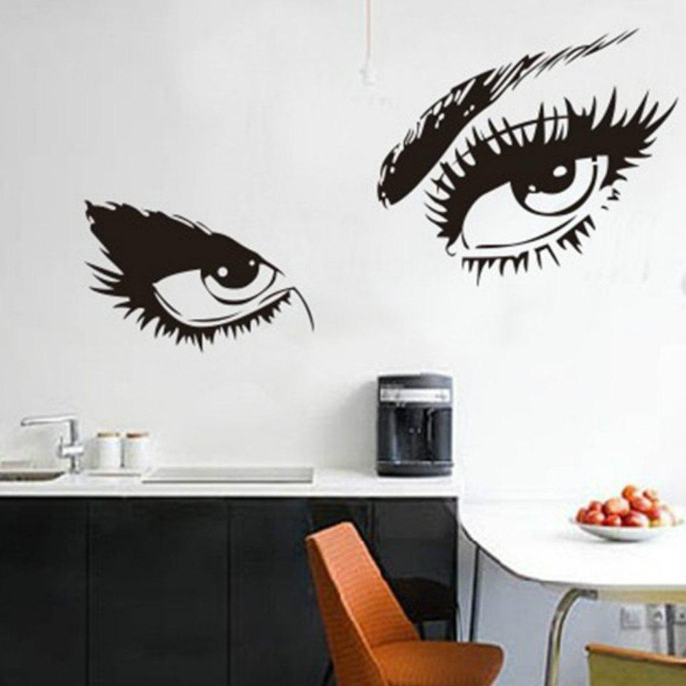 Discount Big Eyes  Decal Long Eyelashes Design Wall Decor Sticker