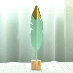 Minimalist Creative Iron Feather Sculpture Living Room Bedroom Decoration -