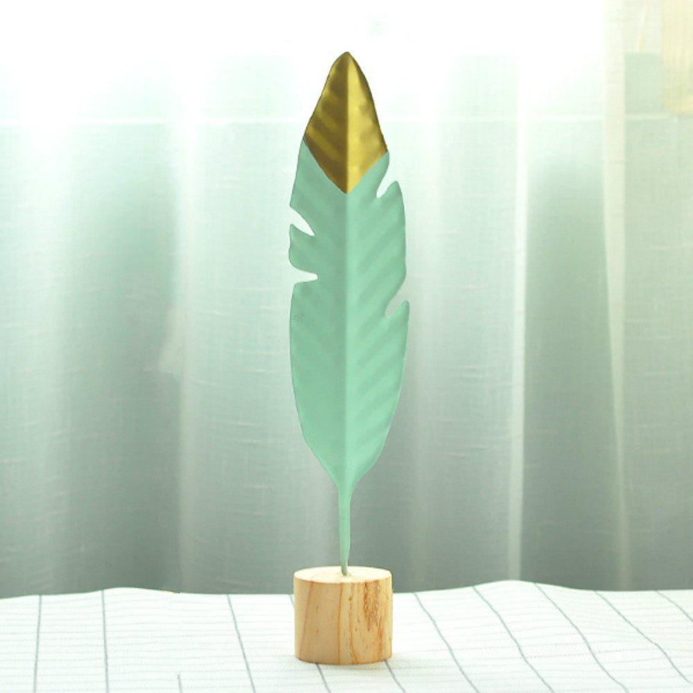 Fashion Minimalist Creative Iron Feather Sculpture Living Room Bedroom Decoration