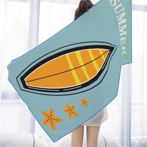 Starfish Boat Microfiber Digitally Printed Rectangular Beach Towel -