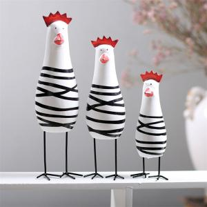 3 PCS Pure Manual Woodcarving Chicks Furniture Home Decoration Gift -