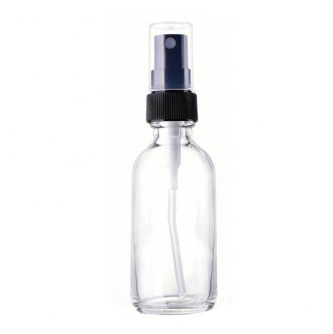 Affordable Set of Four 60ML Glass Spray Bottles with Black Fine Mist Sprayers