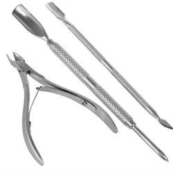 Spoon Pusher Remover Nail Cut Tool Pedicure Manicure Set -