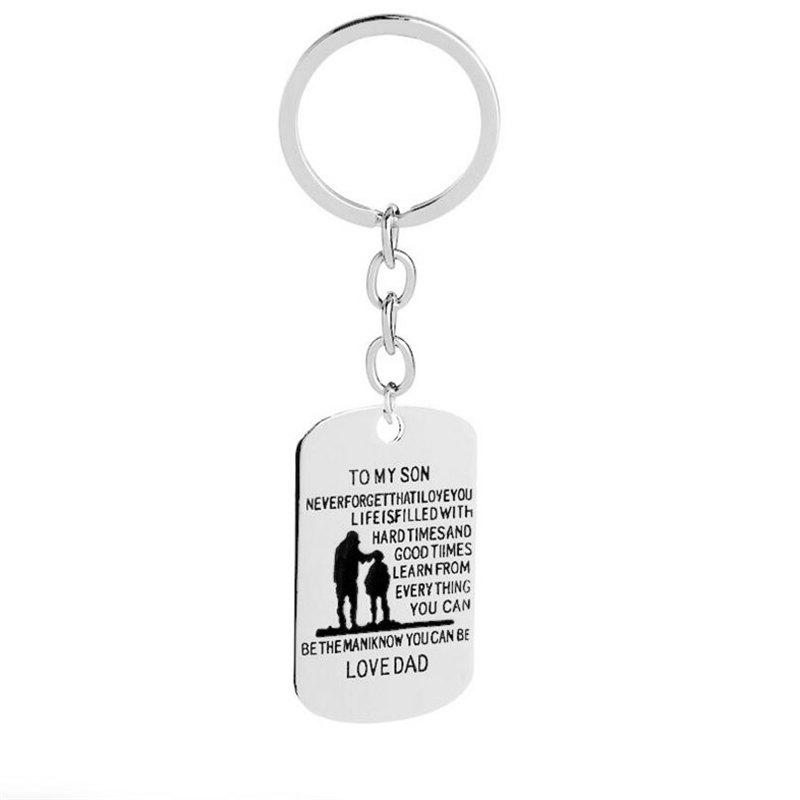 Buy European and American Trends Alloy Father Day Gift Necklace Keychain