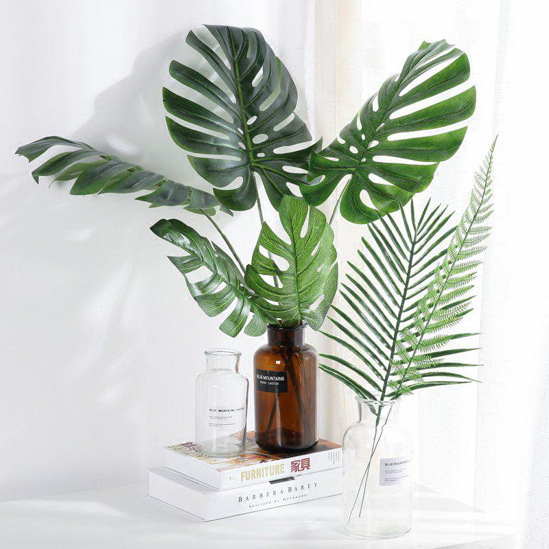 Trendy Tropical Leaves Palm Artificial Monstera Leaf Jungle Beach Theme Party Supplies