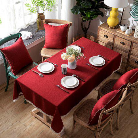 Shops Solid Color Simple Thickened Table Cloth