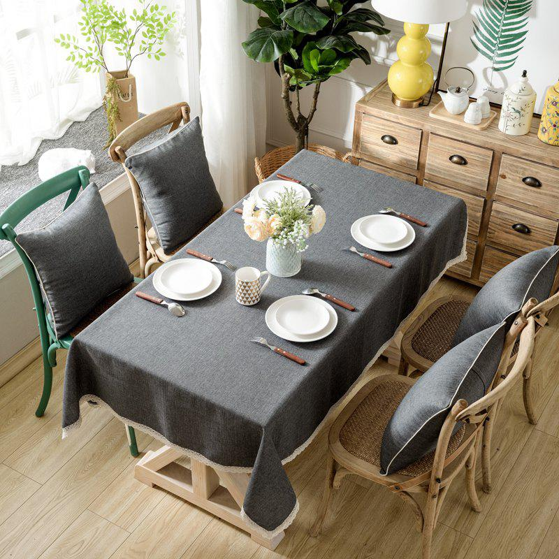 Trendy Solid Color Simple Thickened Table Cloth